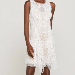 BCBG white lace dress